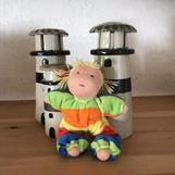Småbarn med blonda tofsar. Bredrandig velour i 5 färger - klicka för att beställa!