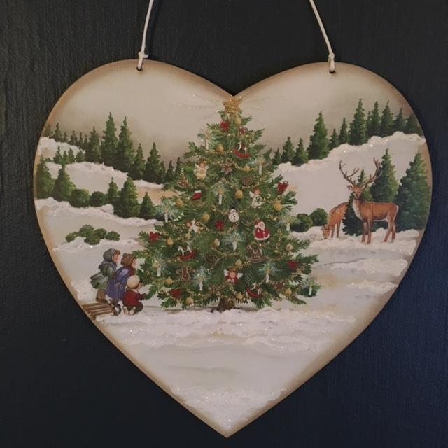 Hjerte med juletre