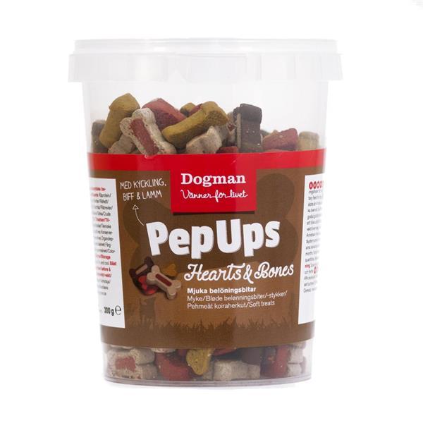 Pep Ups Heart and bones 3 smak, 300 g