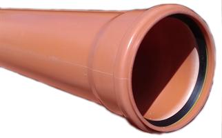 PP markrör 160x5,5x6000 EN-1852 SN8 med muff