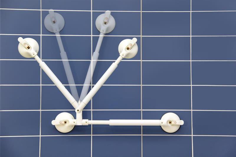 MOBELI Støttehåndtak med vinkeljust 340-465 mm