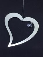 Fönstersmycke Hjärta med kristall