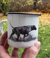 Emaljmugg Stående fågelhund (Vorsteh)