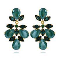 Selene Earrings / Royal green