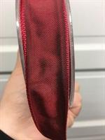 Vinrött/mörkrött band med ståltråd