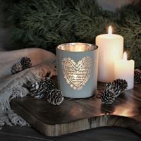 Majas julens hjärta lykta i greige