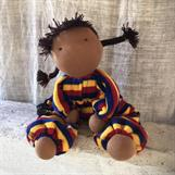 Large hug doll with 2 black braids - SEK 300 (ALSO WITH THE NEW REDBROWN SKIN!)