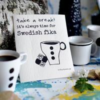 Design disktrasa från Erika Tubbin Swedish fika