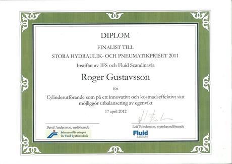 Stora Hydraulik och Pneumatikpriset 2011