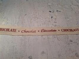 Textband choklad.