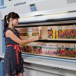 Arkivautomat med TAB-mapper