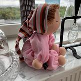 Large hug doll with a hood in light pink velour - SEK 350 !