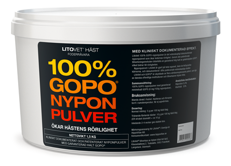 LitoVet 100% GOPO-nyponpulver
