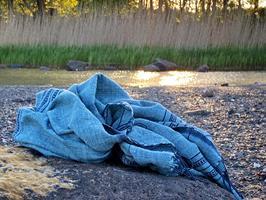 Awash Spahåndkle/ Throw Isblå