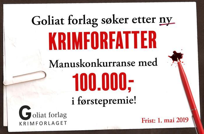 Skrivekonkurranse: 100.000 kr for beste krimmanus!