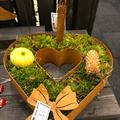 Stort rostigt hjärta att dekorera