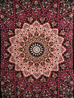 Mandala enkel svart-röd-blå
