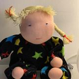 Large Waldorf hug doll with 2 blond braids - SEK 300