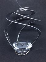 Virvel med diamant formad kristall