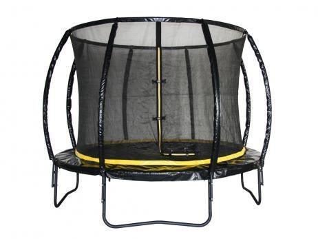 Studsmatta med nät 3m svart PVC