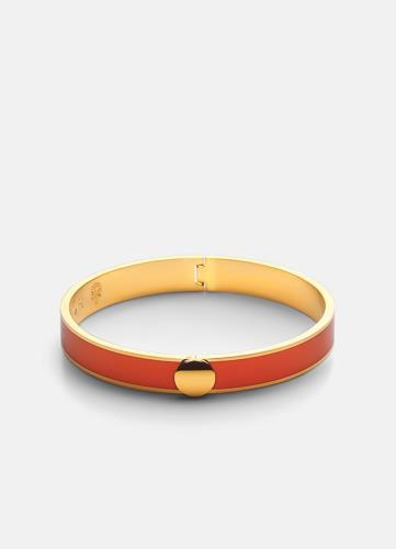 Skultuna Plain Bangle Bracelet - Orange M
