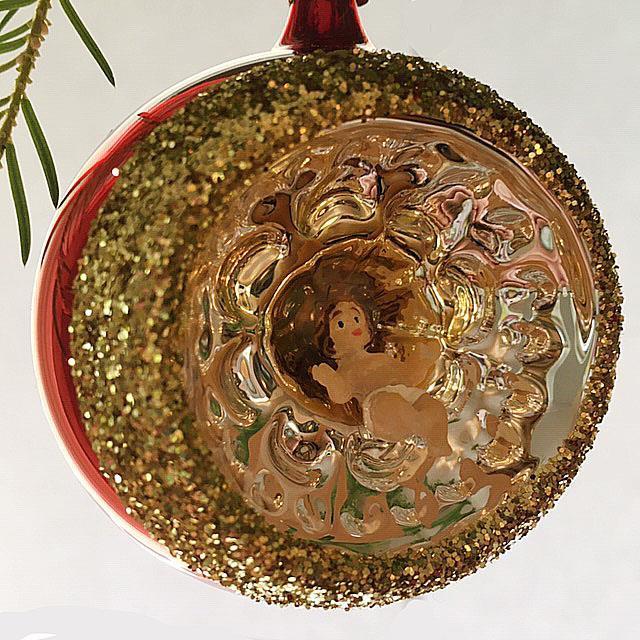 Julekule med refleks, 6 cm