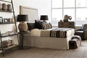Sängkappa Linen Sand, 160x200x 50 cm