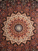 Mandala enkel svart-lila-orange