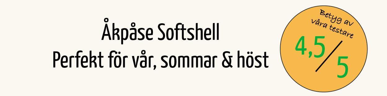 4,5 av 5 i betyg på Åkpåse Softshell