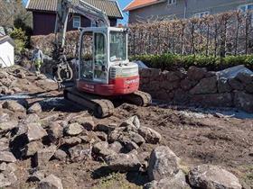 Bygging av Natursteinsmur