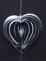 Spiralhjärta i ädelstål 110mm