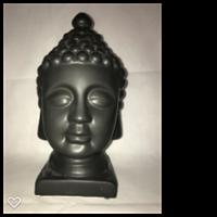 Buddha huvud svart 30 cm