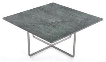 Ninety 80x80 soffbord grön marmor/rostfritt stål