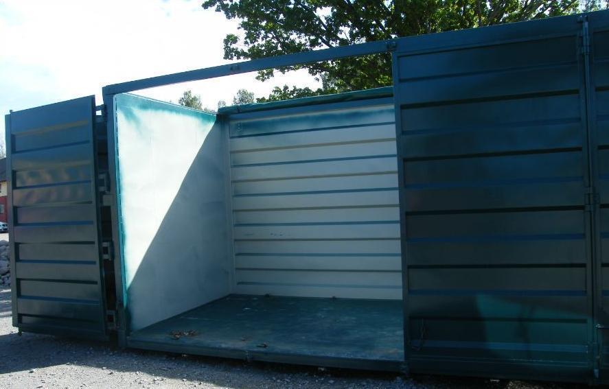 Öppningbar container