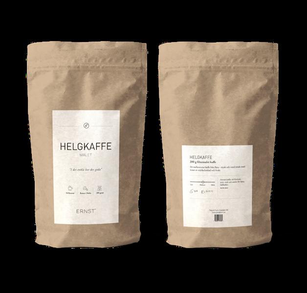 Helgkaffe, malet