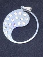 Hängsmycke 30mm Yin/Yang Swarovski kristall