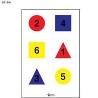 4 färgsobjekt nummrerade ver.A