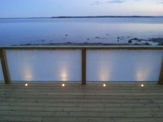 Havsfjärden - belysning dämpar genomsikt när det mörknar,.. vit 90%