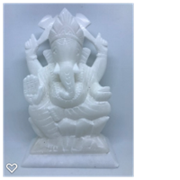 Vit sandsten Ganesh ca 16,5 x 10,5