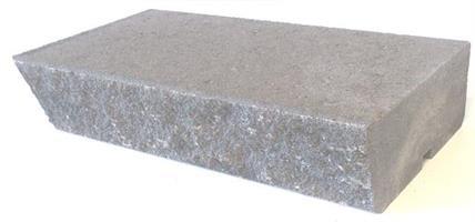 Mosaiken Blocksteg Slät & Knäckt kant 700x350x140mm Naturgrå
