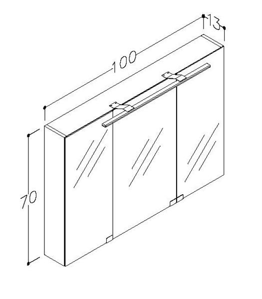 Spegelskåp Garda 100 cm