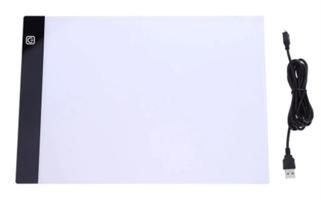 A4 Ledlys plate lysbrett m/usb