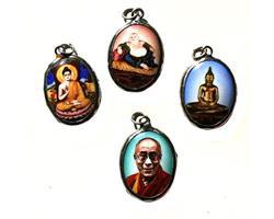 Medaljong - Buddha & Dalai Lama mix (4 pack)