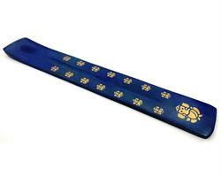 Rökelsehållare - Mangoträ Ganesha blå (10 pack)