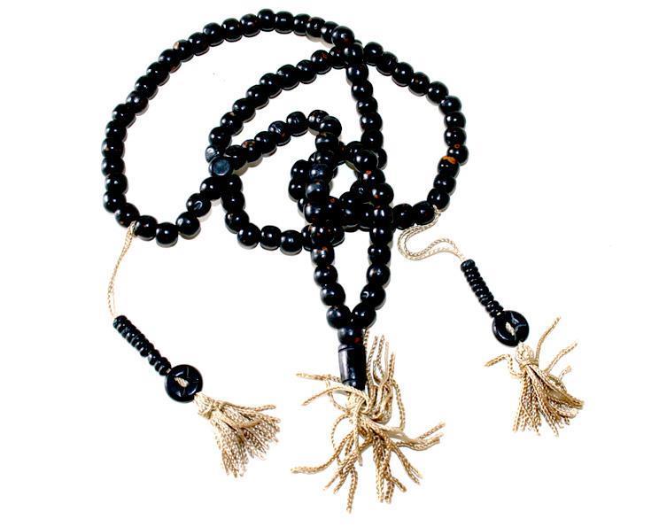 Mala - Halsband Tibet ben svart (10 pack)