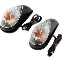 Mini Wing Marker Lights - Black/Clear K&S TECH.