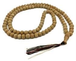 Mala - Halsband trä brun tofs (10 pack)