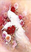 Diamond Painting, Påfugl hvit 32*56cm FPR