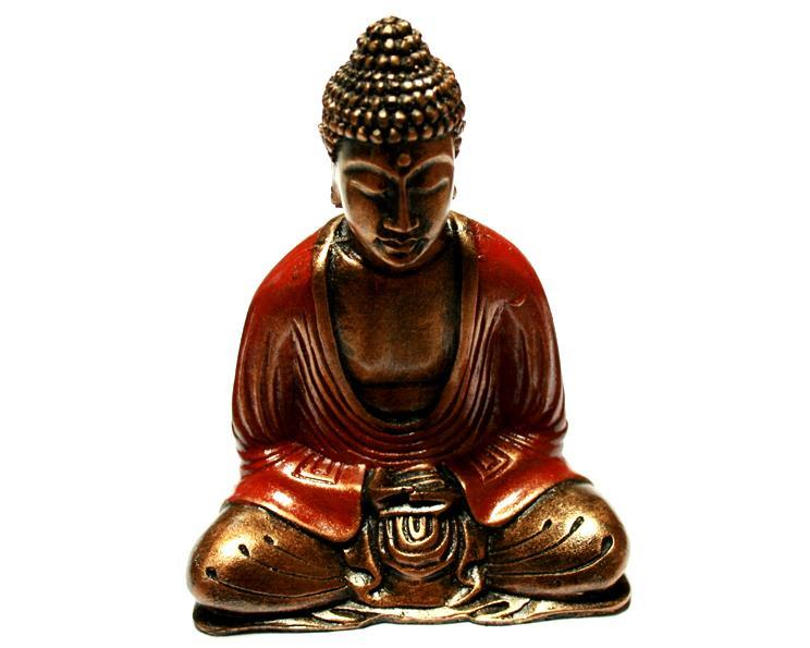 Buddha - Guld & röd 15cm (6 pack)