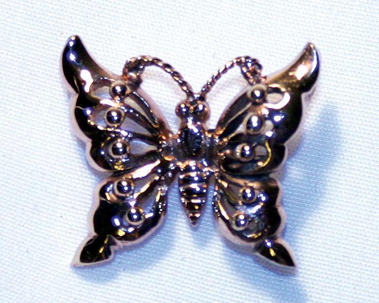 Halsband - Fjäril i mässing (3 pack)